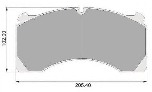 WVA 29155 – BRAKE PAD SET OF 4 – FCV1314 - MERITOR DX195